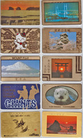 Télécarte  Ancienne Japon / 110-18230 - ANIMAL - Elephant Girafe Ours Lapin Giraffe - Japan Front Bar Phonecard / B - Telefonkarten
