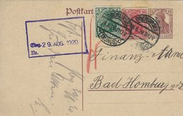 Germany - Uprated Stationery. Used Oberursel ( Taurus ) 1920   H-1308 - Germany
