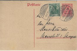 Germany - Uprated Stationery. Used Hinterzarten ( Schwartzwald ) 1920   H-1309 - Germany