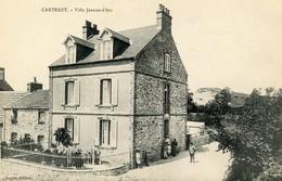 Cpa Carteret (50) Villa Jeanne D'Arc - Carteret