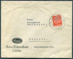 1937 Germany Gorlitz Aircraft Postmark Advertising Cover. Firmenbrief Arno Eckerscham - Germany