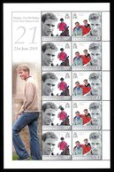 BIOT 2003 21st Birthday Of Prince William Of Wales: Sheet Of 10 Stamps UM/MNH - British Indian Ocean Territory (BIOT)