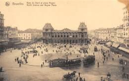 BRUXELLES - Gare Du Nord Et Place Rogier - Chemins De Fer, Gares