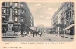 MONS - Monument Houzeau De Lehaie, La Rue De La Station Et La Gare - Mons