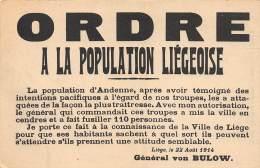 ORDRE à La Population Liégeoise - Luik