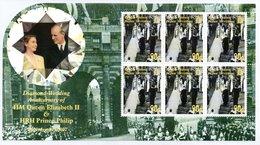 BIOT 2007 Royal Diamond Wedding Anniversary 90p: Sheet Of 6 Stamps UM/MNH - British Indian Ocean Territory (BIOT)