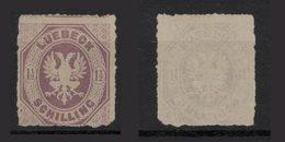 LUEBECK - 1865 -  1 1/2 LILLA - See Photos - Luebeck