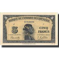 Billet, French West Africa, 5 Francs, 1942, 1942-12-14, KM:28a, SPL - États D'Afrique De L'Ouest