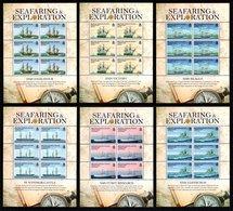 BIOT 2009 Seafaring & Exploration: Set Of 6 Sheets UM/MNH - Britisches Territorium Im Indischen Ozean