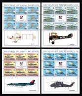 BIOT 2009 Centenary Of Naval Aviation: Set Of 4 Sheets UM/MNH - Britisches Territorium Im Indischen Ozean