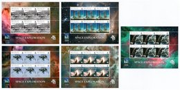 BIOT 2009 40th Anniversary Of The First Moon Landing: Set Of 5 Sheets UM/MNH - British Indian Ocean Territory (BIOT)