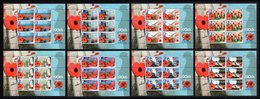 BIOT 2011 90th Anniversary Of The Royal British Legion: Set Of 8 Sheets UM/MNH - British Indian Ocean Territory (BIOT)