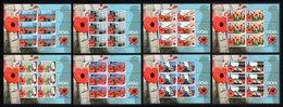 BIOT 2011 90th Anniversary Of The Royal British Legion: Set Of 8 Sheets UM/MNH - Britisches Territorium Im Indischen Ozean