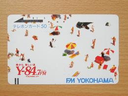 Japon Japan Free Front Bar, Balken Phonecard  / 110-7445 / FM Yokohama - Japan