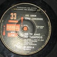 Sencillo Argentino De Serge Gainsbourg Con Jane Birkin Año 1969 - Other - French Music