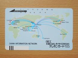 Japon Japan Free Front Bar, Balken Phonecard  / 110-7493 / Daiwa Information Network - Japan