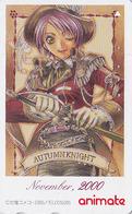 Télécarte Japon / 110-016 - MANGA / 2000 NOVEMBER - Série Animate Magazine - Japan Phonecard - 10218 - Comics