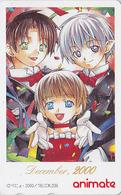 Télécarte Japon / 110-016 - MANGA / 2000 DECEMBER - Série Animate Magazine - Japan Phonecard - 10219 - Comics