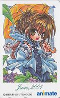 Télécarte Japon / 110-016 - MANGA / 2001 JUNE - Série Animate Magazine - Japan Phonecard - 10222 - Comics