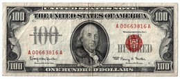 THE UNITED OF STATES OF AMERICA - 100 DOLLARS - SERIES 1966 - B. FRANKLIN - P. 1053- VERY FINE - Federal Reserve Notes (1928-...)