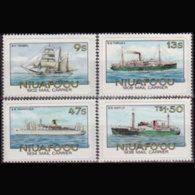 NIUAFOU 1985 - Scott# 56-9 Mail Ships Imperf. Set Of 4 MNH - Tonga (1970-...)