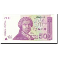 Billet, Croatie, 500 Dinara, 1991-10-08, KM:21a, NEUF - Croatia