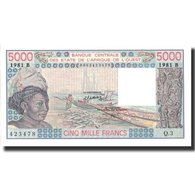 Billet, West African States, 5000 Francs, 1981, 1981, KM:208Be, NEUF - West African States