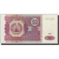Billet, Tajikistan, 500 Rubles, 1994, KM:8a, NEUF - Tadjikistan