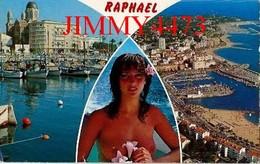CPM - Multi Vues De SAINT RAPHAËL En 1988 Et Une Belle Jeune Fille Aux Seins Nus - Scans Recto-Verso - Pin-Ups