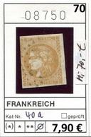 Frankreich - France - Francia - Frankrijk -  Michel 40 A - Oo Oblit. Used Gebruikt - - 1863-1870 Napoléon III. Laure