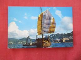 China (Hong Kong) Harbor  Pan Am Travel Card   -ref 2891 - China (Hong Kong)
