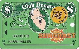 Suncoast Casino - Las Vegas, NV - Slot Card - Short 25mm PPC Over Mag Stripe - VIP Sticker - Casino Cards
