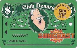 Suncoast Casino - Las Vegas, NV - Slot Card - Cpi 2001121 Over Mag Stripe + VIP Sticker - Casino Cards