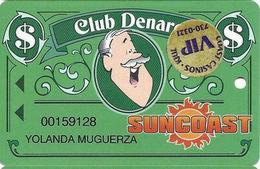 Suncoast Casino - Las Vegas, NV - Slot Card - Cpi 2006461 Over Mag Stripe + VIP Sticker - Casino Cards