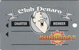 Suncoast Casino - Las Vegas, NV - BLANK Charter Member Slot Card - Casino Cards