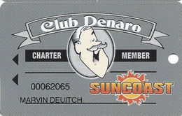 Suncoast Casino - Las Vegas, NV - Charter Member Slot Card - Casino Cards
