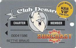 Suncoast Casino - Las Vegas, NV - Charter Member Slot Card + VIP Sticker - Casino Cards