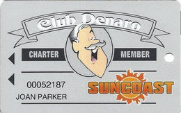 Suncoast Casino - Las Vegas, NV - Charter Member Slot Card (Light Grey Version) - Casino Cards