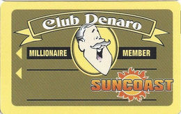 Suncoast Casino - Las Vegas, NV -  BLANK Millionaire Member Slot Card - No Text Over Mag Stripe - Casino Cards