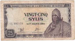 Guinée Conakry - Billet De 25 Sylis - 1971 - Guinea