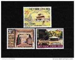South Vietnam Viet Nam MNH Perf Stamps 1975 : Historic Sites / Sct#501-503 - Viêt-Nam