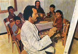 Autoportrait De L'artiste En Famille - Pascal SOLER - Peintre Céramiste - Galerie St Martin - Hameau De Lavail Sorède - Peintures & Tableaux
