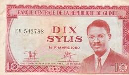 BILLET DE BANQUE...GUINEE  DIX SYLIS - Guinea