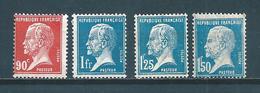 France Type Pasteur De 1923/26  N°178 A 181  Neuf Tres Petite Charnière, Belle Gomme  Cote 75€10 - 1922-26 Pasteur