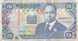 Kenya - Billet De 20 Shillings - Daniel Toroitich Arap Moi - 1er Janvier 1994 - Kenya