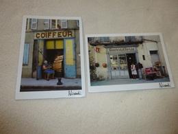 2 CARTES..PHOTOS ALESSANDRI ...CHEZ MARGUERITE..QUINCAILLERIE ....ET COIFFEUR - Commercio