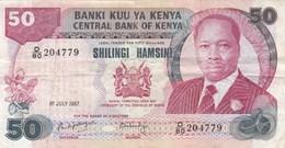 Kenya - Billet De 50 Shillings - Daniel Toroitich Arap Moi - 1er Juillet 1987 - Kenya