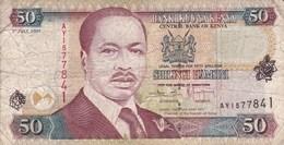 Kenya - Billet De 50 Shillings - Daniel Toroitich Arap Moi - 1er Juillet 2001 - Kenya