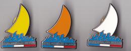 PIN'S THEME VOILE  ECOLE FRANCAISE DE VOILE SERIE DE 3 PINS - Sailing, Yachting