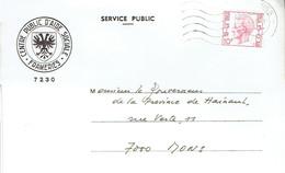 Lettre à En-tête Du CPAS De 7230 Frameries Vers Mons (mars 1983 - Covers & Documents